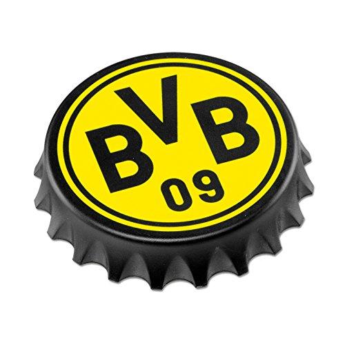 BVB Flaschenöffner Kronkorken mit Logo, Metall, Schwarz / gelb, 7.5 x 7.5 x 2 cm, 1 Einheiten