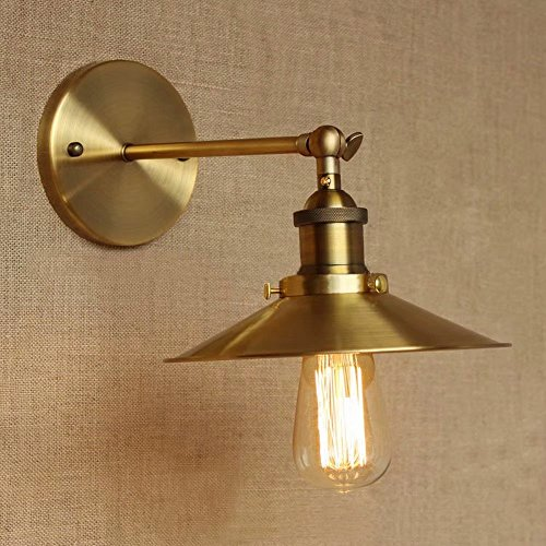 Lingkai Industrielle Retro Eisen lange Arm Bronze Kegel geformte Lampe Schatten Wand Lampe Bar Cafe Schlafzimmer Vintage Wandleuchte - Kegel-wand-lampe