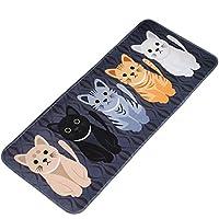 LLQ Cat Printed Doormat, Indoor Kitchen Mat, Outdoor Front Door Entrance Rug Carpet