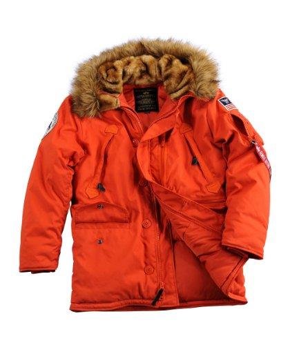 Alpha Polar Jacket, Parka Homme red