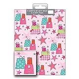 Geschenkpapier Pack 2Blatt & 2Tags + Geschenk Designer Female 2