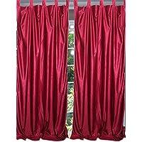 Mogul interior ventana tratamientos paneles cortinas sólido marrón 122x 84-Inch longitud...