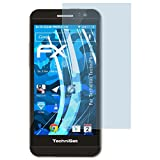 atFolix Displayschutzfolie für Technisat TechniPhone 5 Schutzfolie - 3 x FX-Clear kristallklare Folie