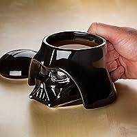 Star Wars Mug - Darth Vader Helmet 3D Ceramic Figural Coffee Mug with Removable Lid - 20 oz