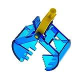 1 x Lego Technic Greifarm Bagger transparent dunkel blau gelb Kran Arm Schaufel ohne Feder 6195 3492c01