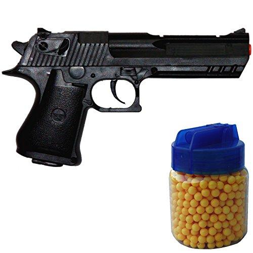 Spielzeugpistole mit 1000 Schuss Munition Pistole Erbsenpistole Kugelpistole für Kostüm Gangster Polizist