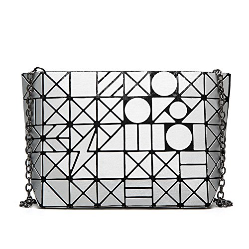 Flada, Borsa tote donna nero Black medium Silver