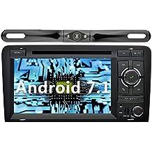 YINUO 7 Pulgadas 2 Din Android 7.1.1 Nougat 2GB RAM Quad Core Pantalla Táctil Estéreo Reproductor de DVD GPS Navegador Multimedia Radio De Coche Para Audi A3 (Con Cámara Trasera 5)
