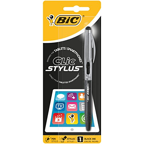 BIC 919378 Stylus 2 in 1 Penna a Sfera a Scatto Cristal