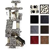 Katzen Kratzbaum ca. 170x75x65cm mit vielen Kuschel-und Spielmöglichkeiten Nr. 51 (leopardenfelloptik)
