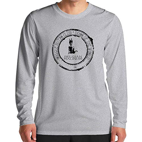 Stamp Club (Idakoos Belgian Malinois Wiggle Butts Club Stamp Langarm T-Shirt M)