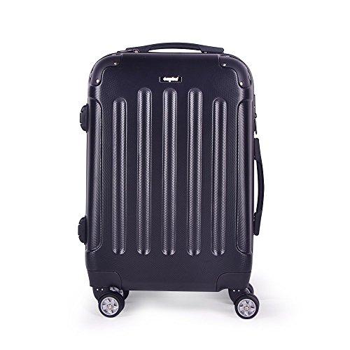 Valise cabine 52cm 36L - Sunydeal - ABS ultra Léger - 4 roues - Noir - Garantie de 12 mois