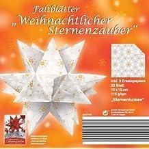 Faltblätter Weihnachtlicher Sternenzauber - Motiv Sternenfunken, 15 x 15 cm á 33 Blatt