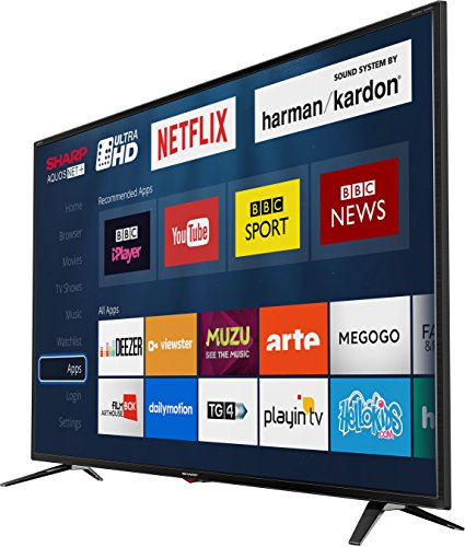 Sharp LC-43UI7352K 4K Ultra HD Smart 43-inch TV with Freeview HD  2018 model   Black