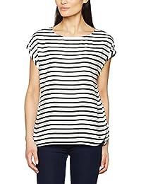 TOM TAILOR Denim Damen Bluse S-Less Printed Blouse Shirt