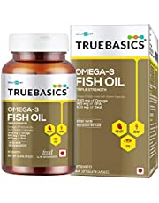 TrueBasics Omega-3 Fish Oil Triple Strength with 1250mg of