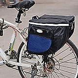 szyzl88 Bicicletta Sacchi Impermeabile Strade di Montagna Porta Bici Sedile Posteriore Coda Vettore Costume Doppio Borsa Ciclismo Sacchi, da Spalla, Lato Riflettori & con Zip Tasche - Blu