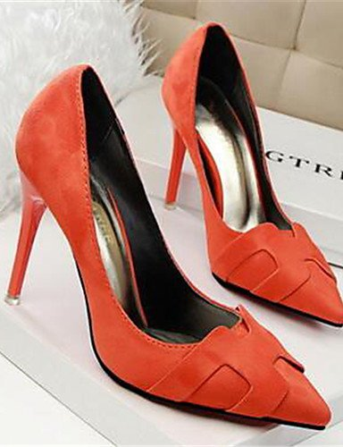 WSS 2016 Chaussures Femme-Habillé / Soirée & Evénement-Rose / Rouge / Gris / Orange-Talon Aiguille-Talons-Talons-Synthétique red-us6 / eu36 / uk4 / cn36