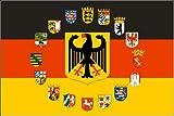 Deutschland Adler und 16 Bundesländer Wappen Fahne Flagge Grösse 1,50x0,90m
