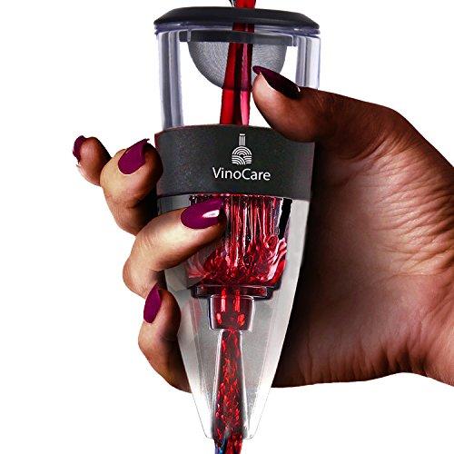 VINOCARE Aireador de Vino - Decantador de vino con soporte de exhibición -...