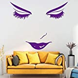 xingbuxin Schönheit Gesicht Wandkunst Aufkleber Wandaufkleber PVC-Material Für Wohnzimmer Büro...