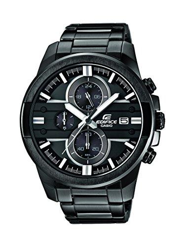 Edifice Herren-Armbanduhr XL Edifice Analog Quarz Edelstahl EFR-543BK-1A8VUEF