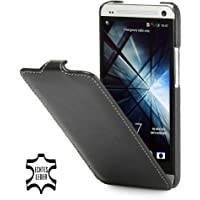 StilGut exklusive Ledertasche UltraSlim Case für HTC One in Schwarz