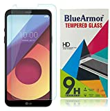 BlueArmor LG Q6 Tempered Glass [ For 10th August 2017 New Release LG Q6 Mobile Phone ] Screen Guard Protector - Clear