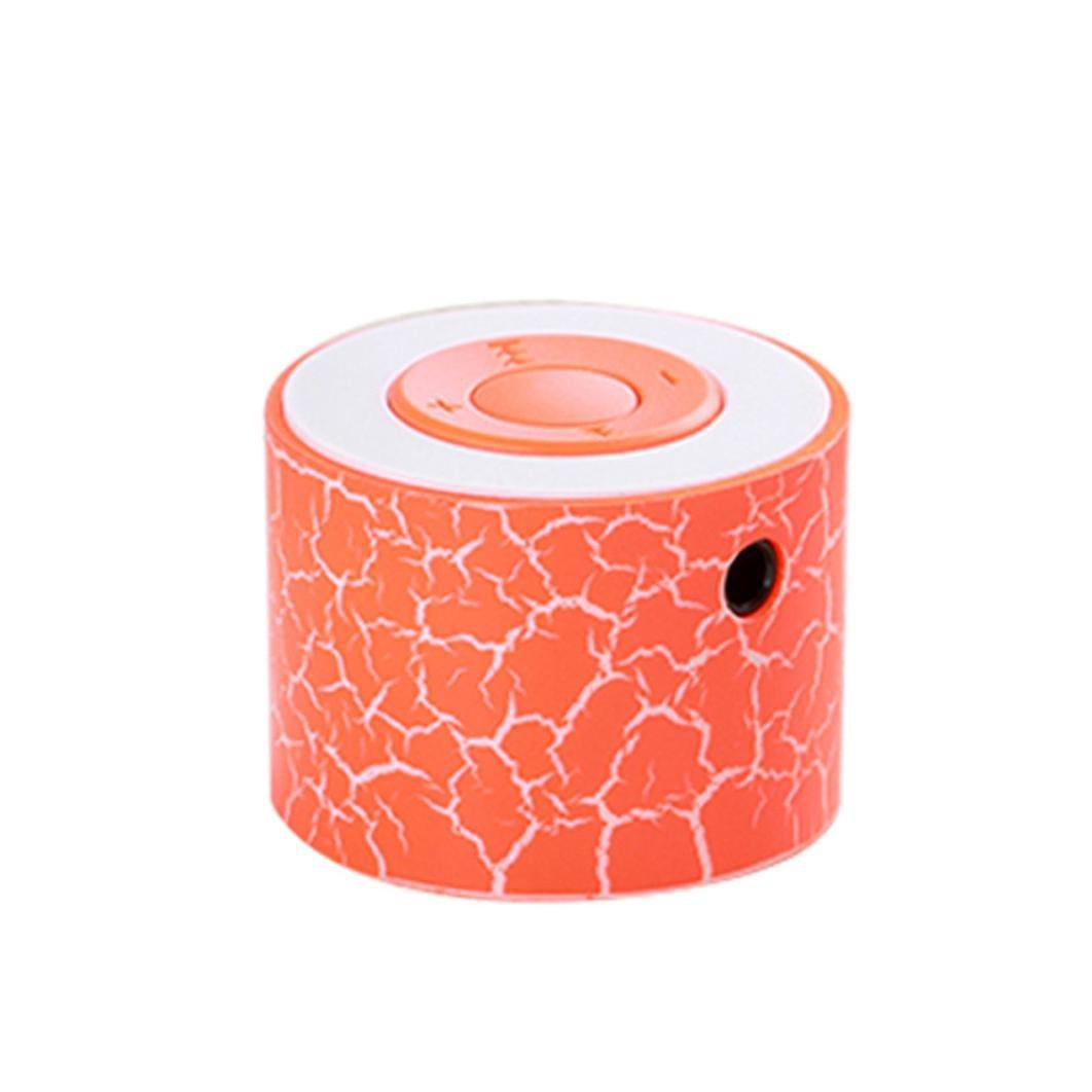 Taottao portatile mini altoparlanti stereo Bass Music player wireless TF speaker, orange