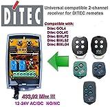 Ditec GOL4 Ditec BIXLP2 Ditec BIXLS2 Trasmettitore Telecomandato Codice Fisso 433,92 Mhz Sostituzione Remota Ditec BIXLG4