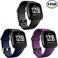 HUMENN Armband Für Fitbit Versa, Classic Weiches TPU Sports Ersetzerband Verstellbares Zubehör Uhrenarmband für Fitbit Versa Smartwatch