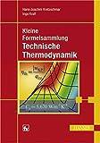 Image de Kleine Formelsammlung Technische Thermodynamik