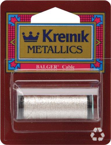 Kreinik Metallic Kabel 3-lagig, 10m, Silber -
