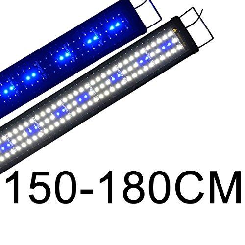 Boomersun Klassik LED Aquarium Beleuchtung, Aquarium LED Lampe mit Mondlicht, LED Licht für Süßwasser-Aquarien 150-180cm