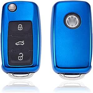 Kaktus Autoschlüssel Schutzhülle Für Volkswagen Skoda Seat 3 Tasten Klappschlüssel Version