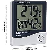 daorier interior LCD Digital de temperatura y medidor de humedad con alarma reloj THERMO-HYGROMETER Home comodidad Monitor