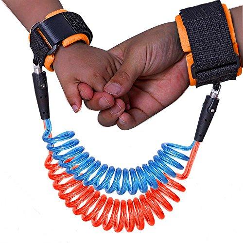 VERNASSA Sicherheit Baby Kind Handgelenk Sicherheit Link Verstellbare Kleinkind Anti Lost Handgelenk Rein Harness Strap Seil Leine(blau)