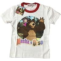 T-shirt Bimbo Masha e Orso *21014 Maglietta Manica Corta bambino