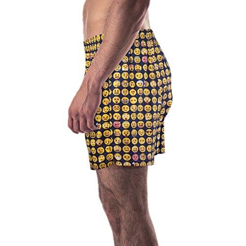 Boxershorts mit witzigen Motiv-Prints aus 100% Baumwolle Emoji
