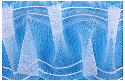 Bestlivings Gardinenband Smokband in Verschiedenen Ausführungen, Auswahl: 100 mm 1:2 d - 25 m