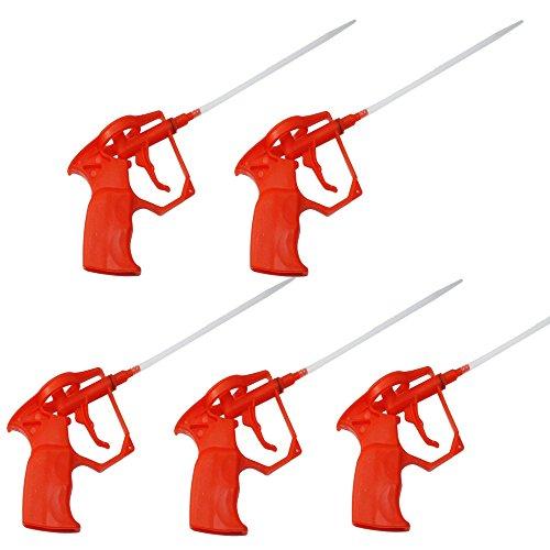 DWT-Germany 5x Schaumpistolen, Bauschaum PU Expanding Foam Abdichtungspistole, PU Foam Kunststoffkörper Pro Heavy Duty Schaum Ausweitung sprayer PU-Bauschaumpistole (Komplett aus Kunststoff)