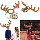 Toamen Dress Up Toys, Inflatable Reindeer Christmas Hat Antler Ring Toss Holiday Party Game Toys, Inflatable Xmas Elk Antlers (2 PCS) Bild 1