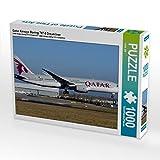CALVENDO Puzzle Qatar Airways Boeing 787-8 Dreamliner 1000 Teile Lege-Größe 64 x 48 cm Foto-Puzzle Bild von Chris Jilli