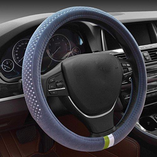 set di volante di brevi confortevole sudore inverno set generali caldi peluche di forniture automobilistiche (38cm) , low profile grey