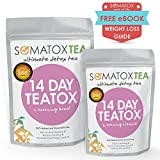 Detox Tea - 14 Day Teatox + FREE BONUS eBOOK - Premium Detox Tea (Teatox • Green Tea • Diet Tea • Slimming Tea • Burn Fat • Lose Belly Fat • Skinny Tea • Herbal Tea • Colon Cleanse) SOMATOX Advanced Weight Loss Formula