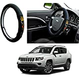 Autopearl Auto Pearl - Adinox Premium Quality Ring Type Car Steering Wheel Cover (Chromium Om Namah Shivay) For -Jeep Compass