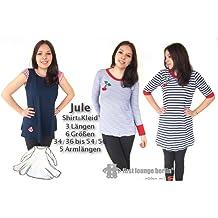 Jule Nähanleitung mit Schnittmuster für Shirt & Kleid von Gr. XS-XXL [Download]