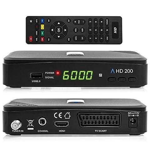 Anadol HD 200 HDTV digitaler Satelliten-Receiver (HDTV, DVB-S2, HDMI, SCART, USB 2.0, Full HD 1080p) [vorprogrammiert] -