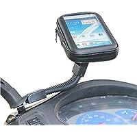 "Universal moto scooter eléctrico soporte de espejo retrovisor Soporte Bolsa 5.2–5.5""Phone GPS funda impermeable para iPhone 6Plus Note 3/4S5/6J7A8"