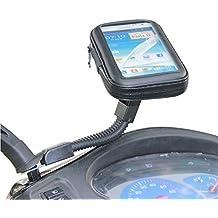 Universale Moto Scooter elettrico auto specchietto retrovisore supporto borsa 5.2–5.5per GPS impermeabile Custodia per (Gps Specchietto Retrovisore)